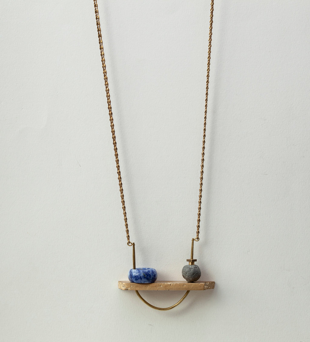 Volver / Lapis Necklace (Only one piece)
