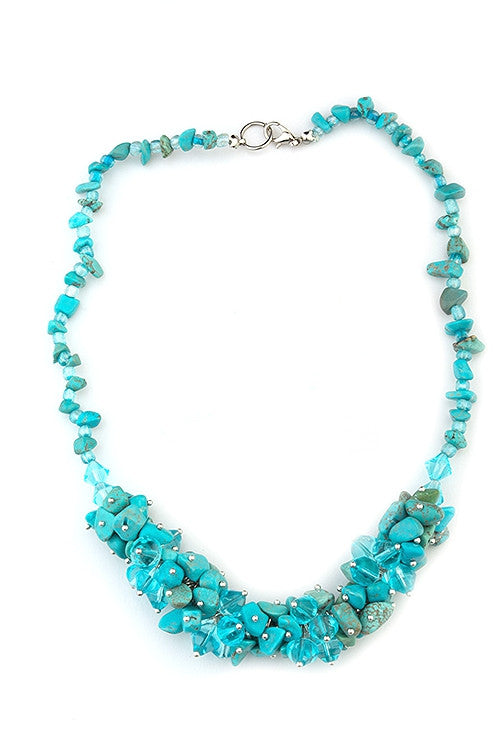 Coby handmade in turquoise and Murano glass necklace