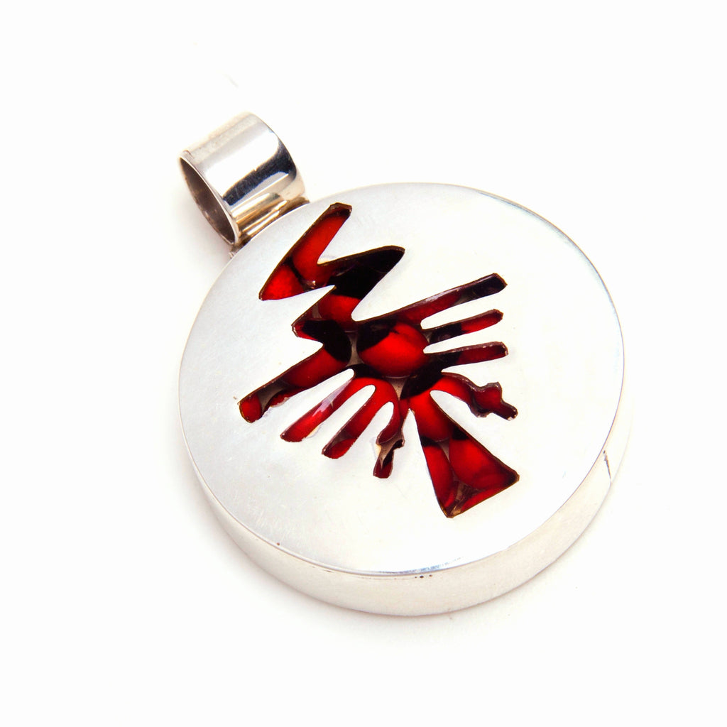 Nazca mystery huayruro pendant, red