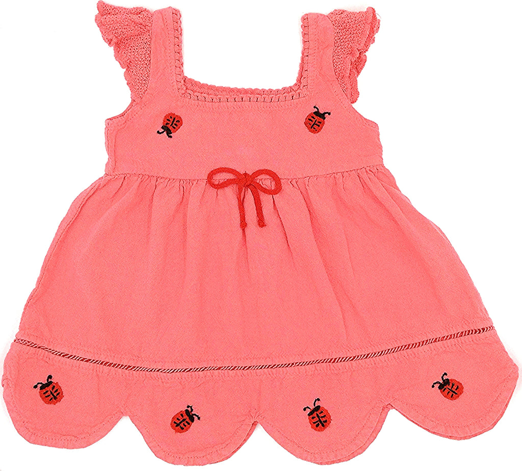 Penelope ladybug cotton dress,pink