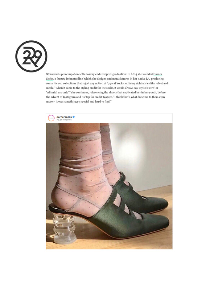 Darner Socks Featured in Refinery29 UK