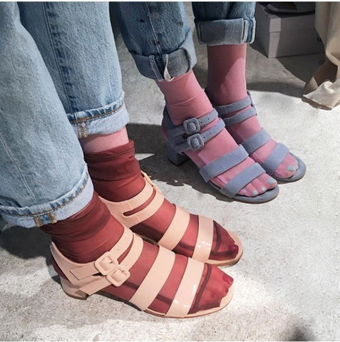 Darner mesh socks perfect for summer sandals.