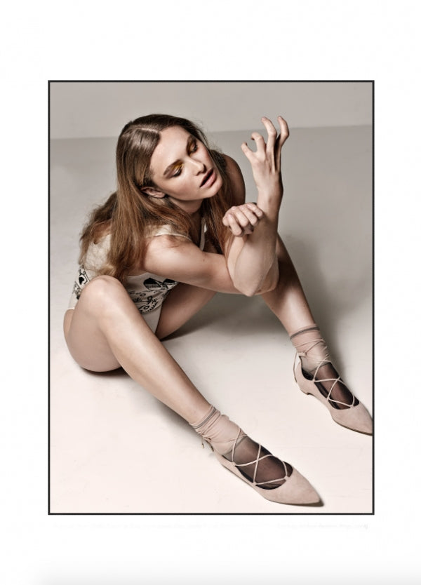 Darner Ombre Mesh socks featured in Factice Magazine