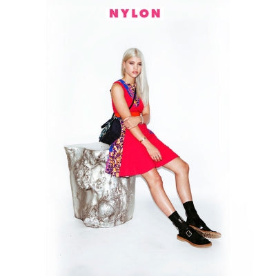 Darner socks featured in Nylon Magazine on Sofia Richie