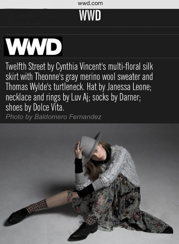 Darner cage mesh socks featured on WWD.com