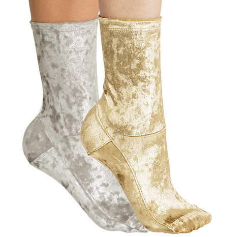 Darner 2-Pack Crushed Velvet Socks