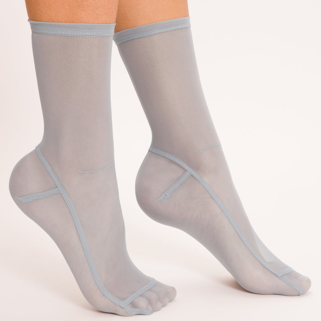 Darner Solid Powder Blue Mesh Socks - Darner Socks
