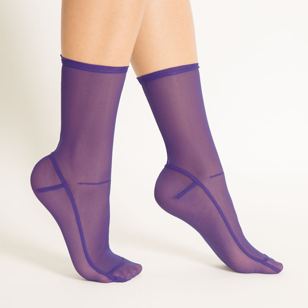 Darner x Opening Ceremony Purple Mesh Socks