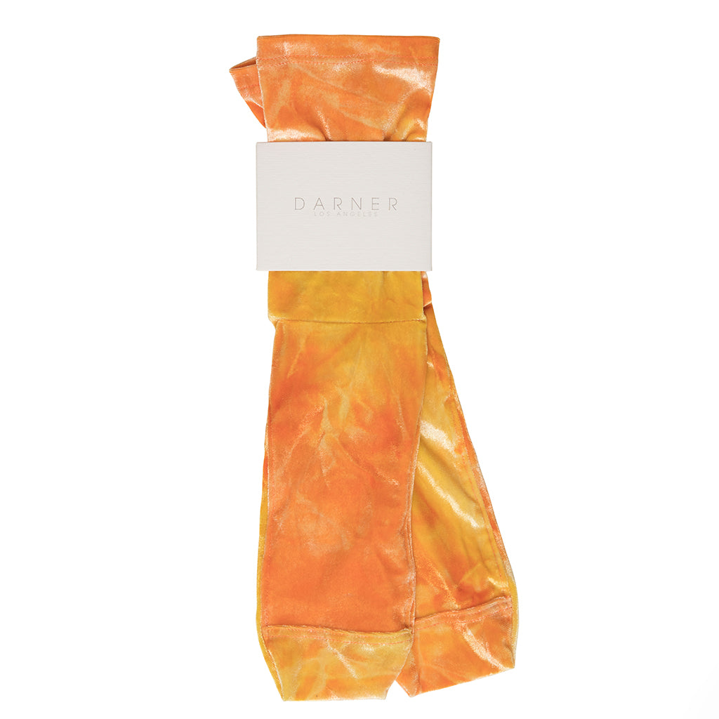 Darner Orange Tie-Dye Velvet Socks