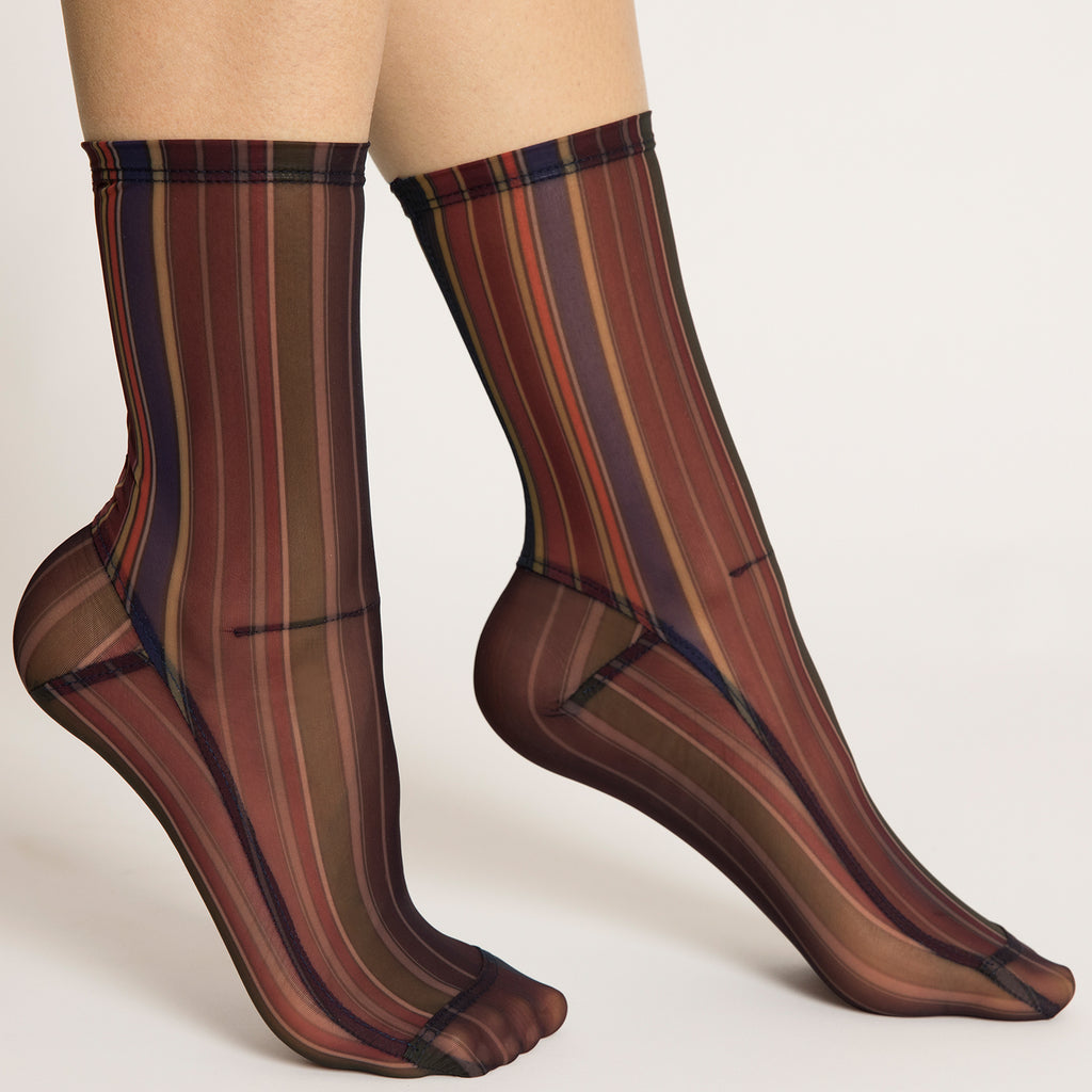 Darner Saturn Stripes Mesh - Darner Socks