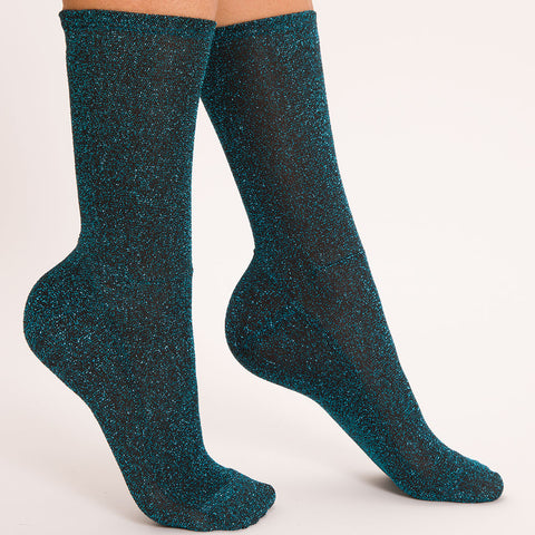 Darner Blue Tinsel Shimmer Socks