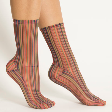 Darner Rainbow Stripes Mesh - Darner Socks