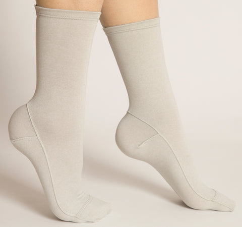 Darner Light Gray Luxe Jersey Socks