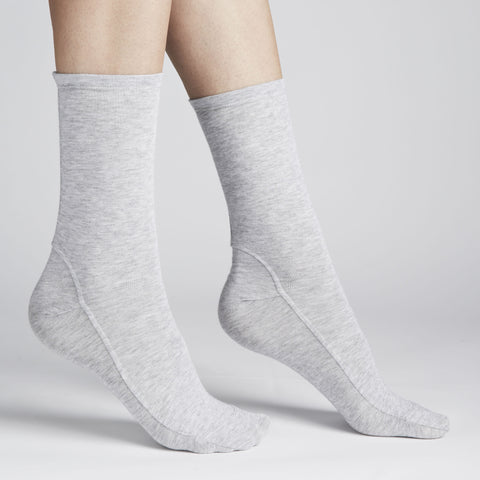 Darner Light Grey Bamboo Jersey Socks - Darner Socks