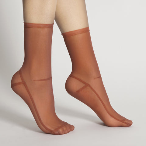 Darner Solid Burnt Orange Mesh Socks - Darner Socks