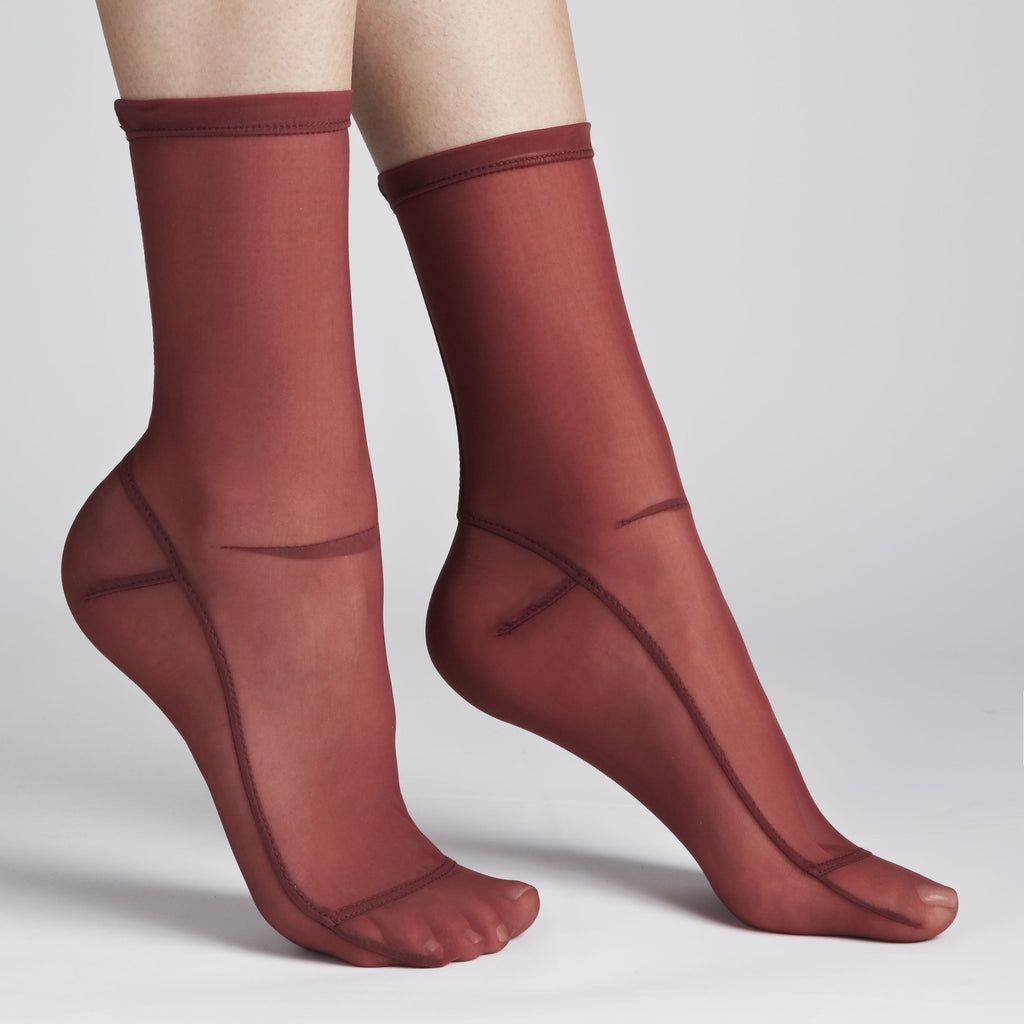 Darner Solid Red Mesh Socks - Darner Socks