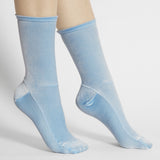 Darner X Mona Moore - Powder Blue Velvet socks