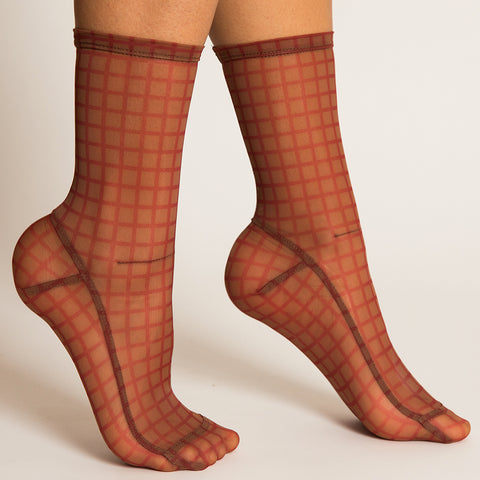 Darner Red Cage Mesh Socks