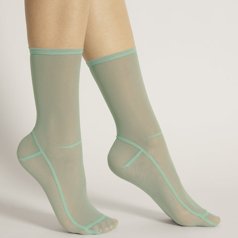 Darner Solid Sea Foam Mesh Socks - Darner Socks