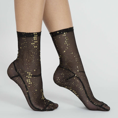 Darner Gold Sequin Socks
