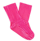 Darner x MATCHES Pink Ribbed Velvet - Darner Socks