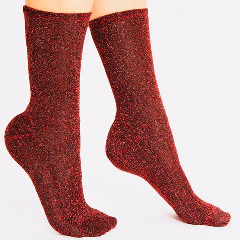 Darner Red Tinsel Shimmer Socks