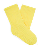 Darner x MATCHES Yellow Ribbed Velvet - Darner Socks