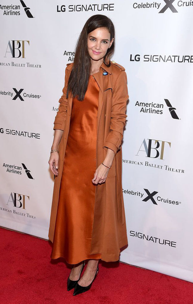 KATIE HOLMES IN ROSETTA GETTY PRE-FALL 2019