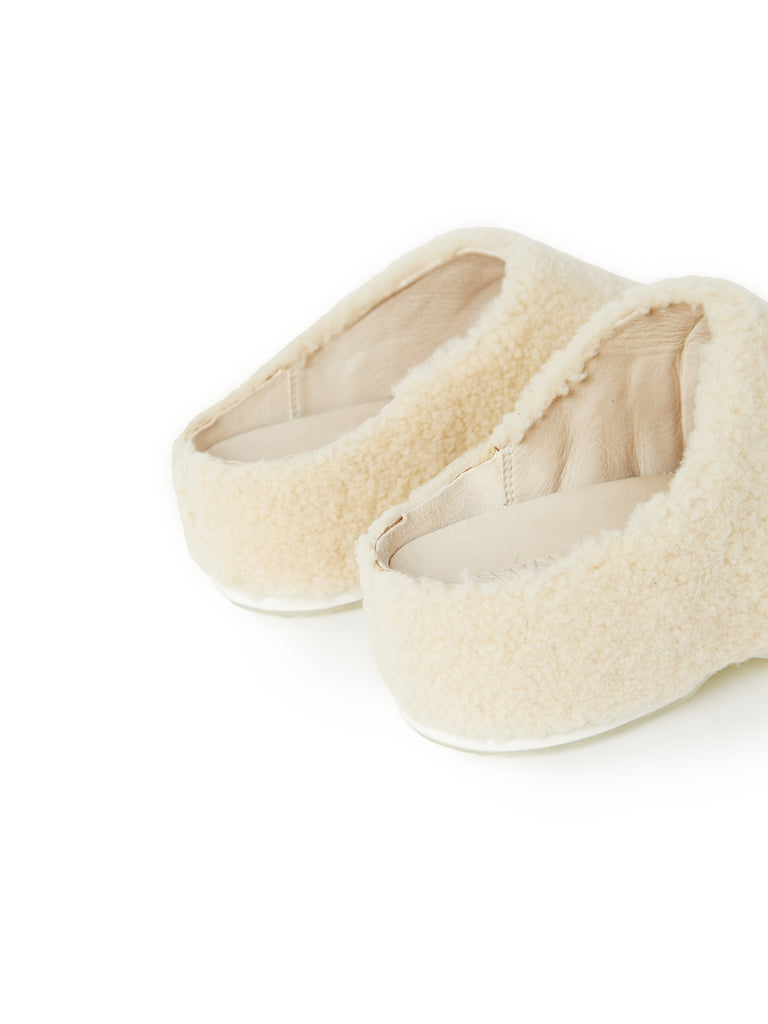 ROSETTA GETTY X ECCO SHEARLING CLOGS