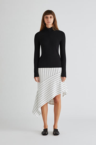 ASYMMETRIC PANEL SKIRT