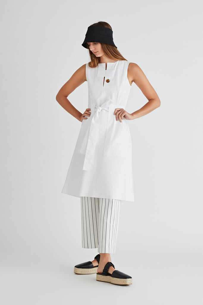 BELTED TAB DRESS