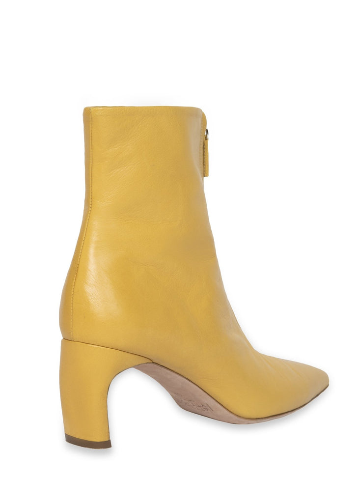 ZIP FRONT HEELED BOOT
