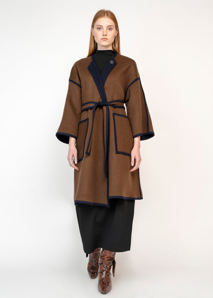 REVERSIBLE COCOON COAT