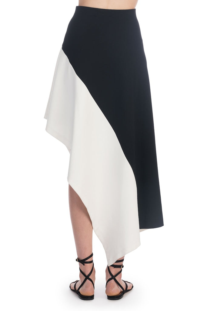 PULL ON SLASH PANEL SKIRT