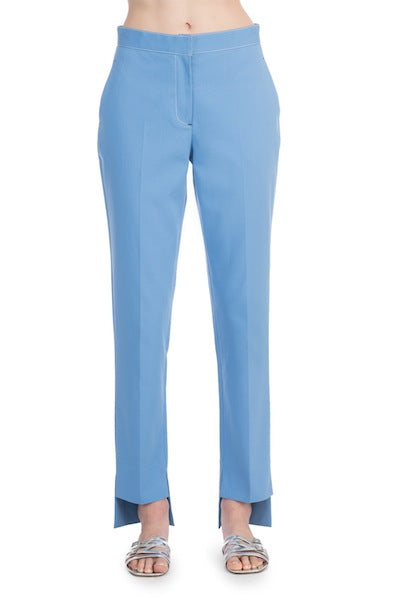 CROPPED FRONT TAPERED TROUSERS