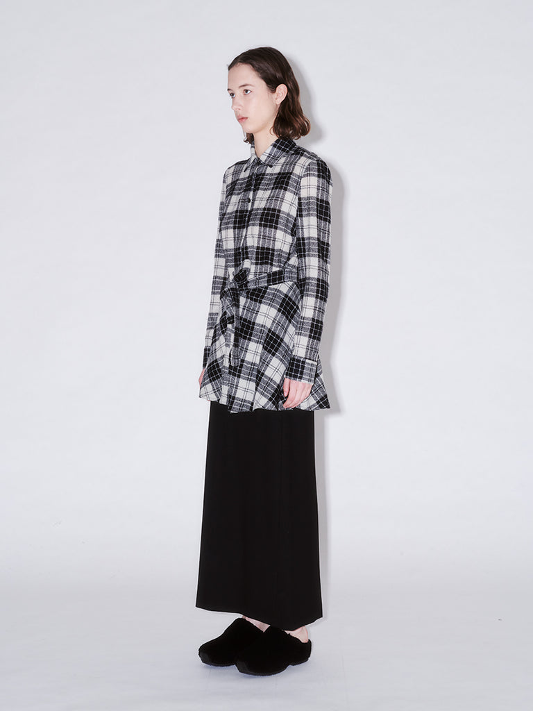 Apron Wrap Shirt Plaid