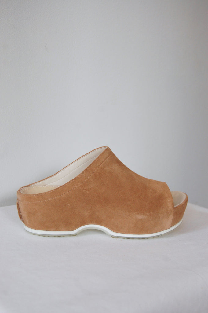 Rosetta Getty X ECCO Suede Open Toe Clogs