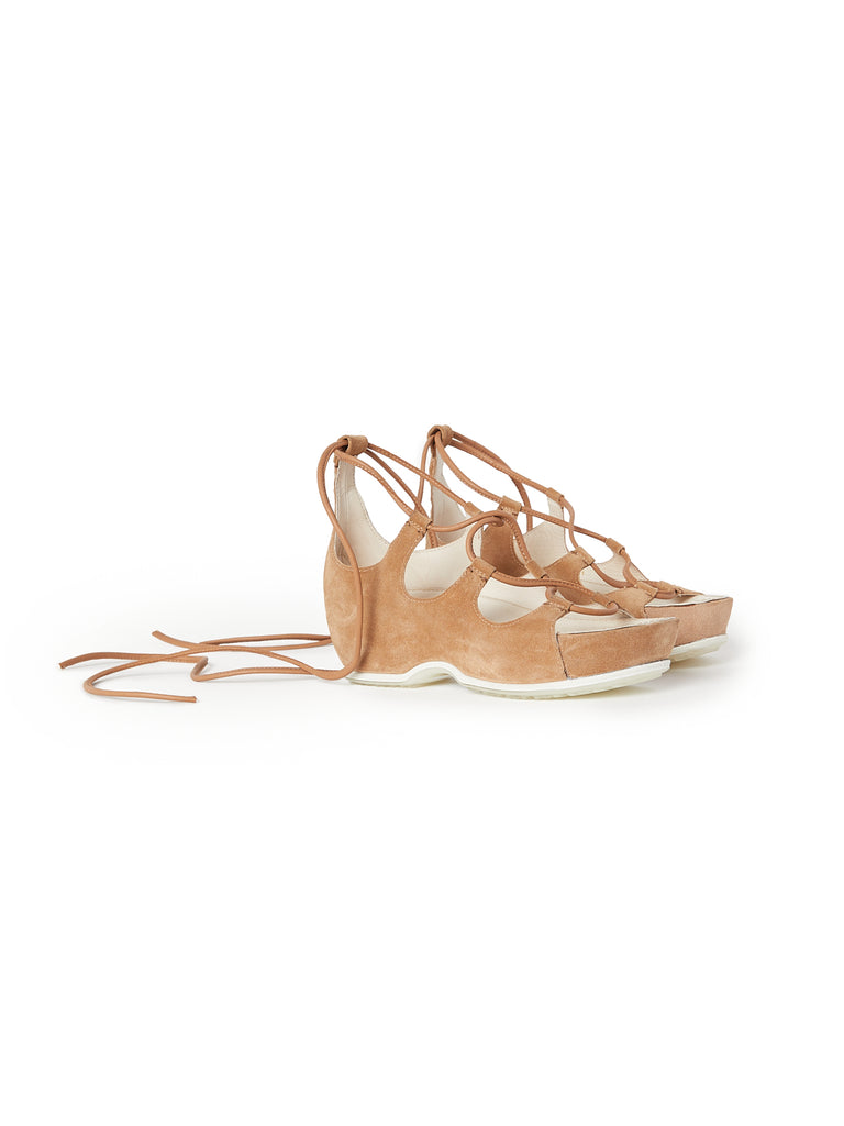 Rosetta Getty X Ecco Suede Lace Up Sandals