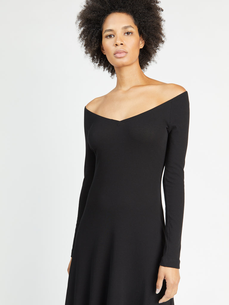 Open V-Neck Dress