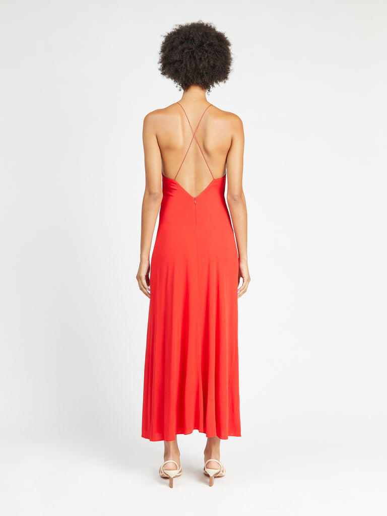 Cross-Back Slip Dress