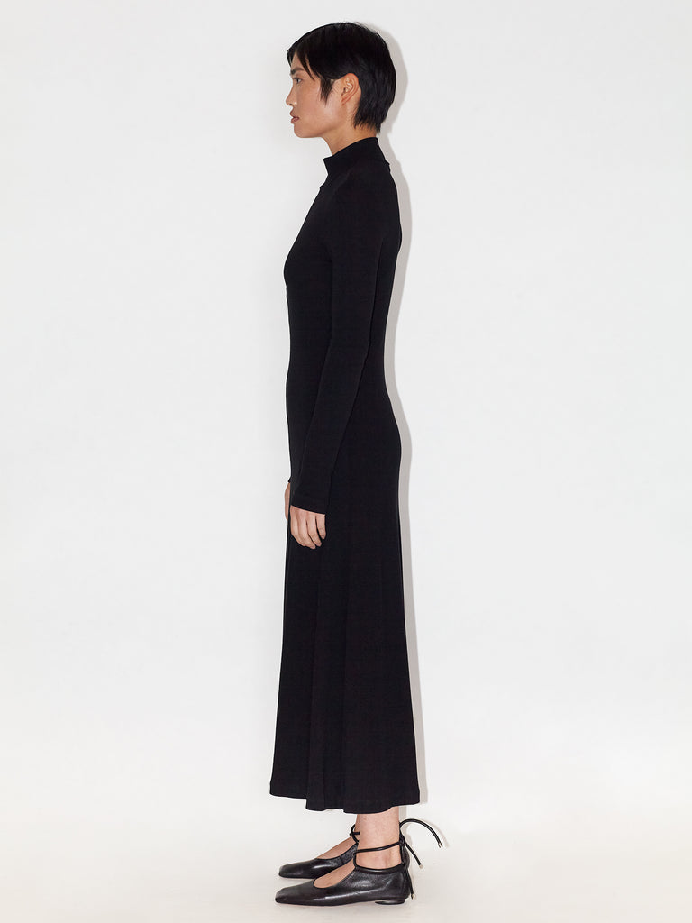 Long Sleeve Zip Up Turtleneck Dress