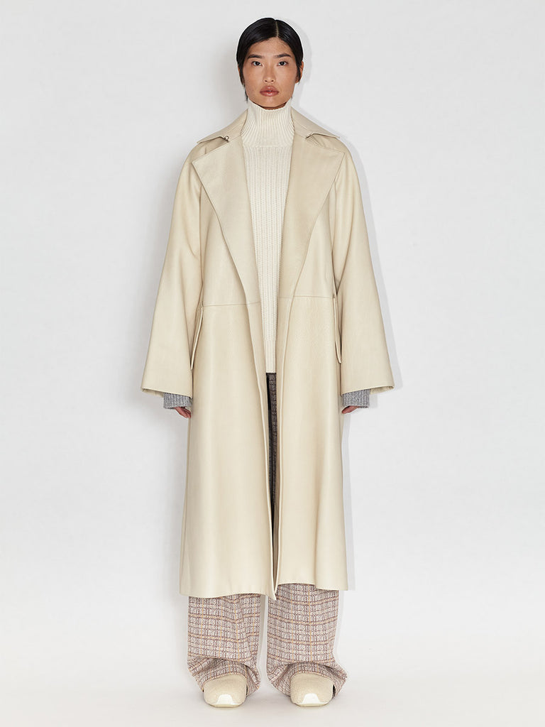 Buckle Belt Trench Coat