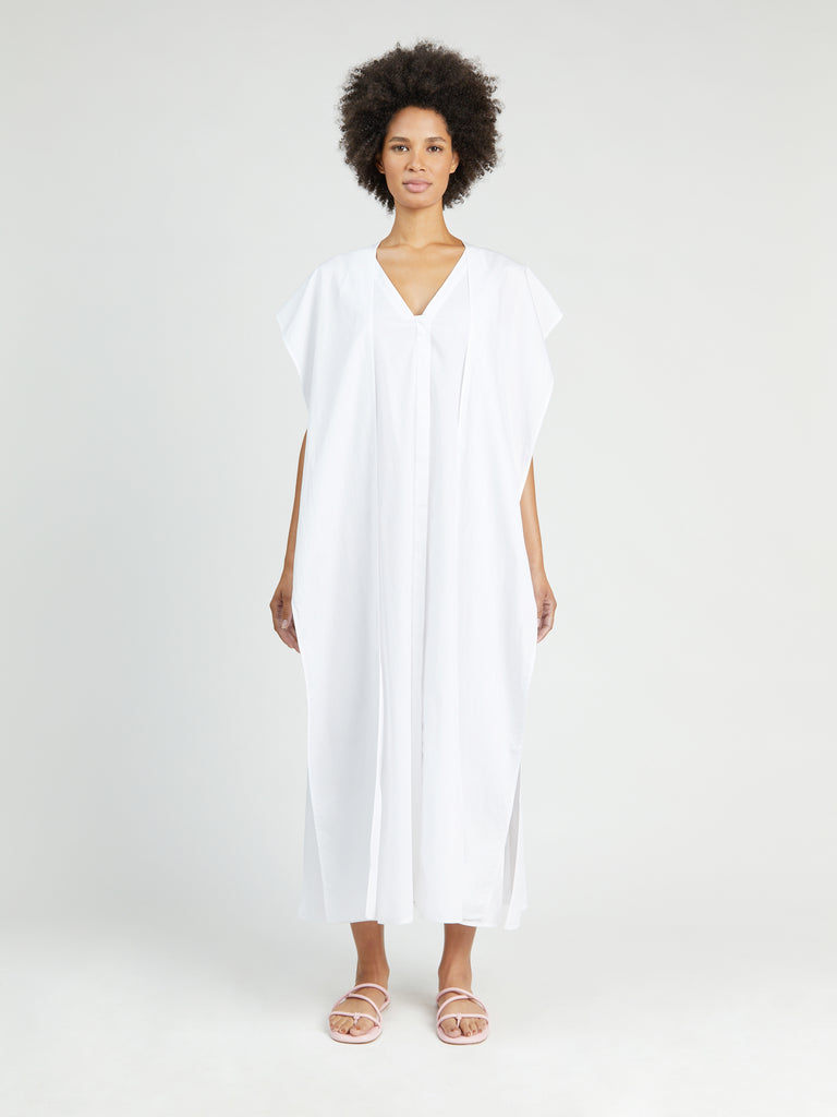 Wrap Panel Caftan Dress