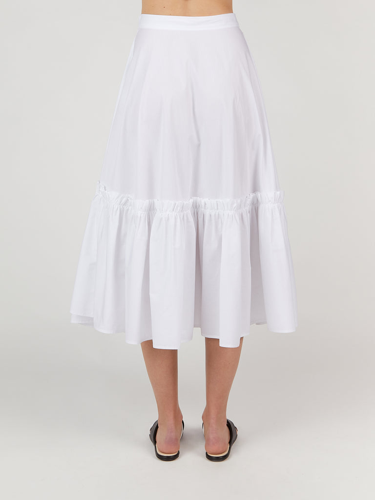 Gathered Hem Wrap Skirt