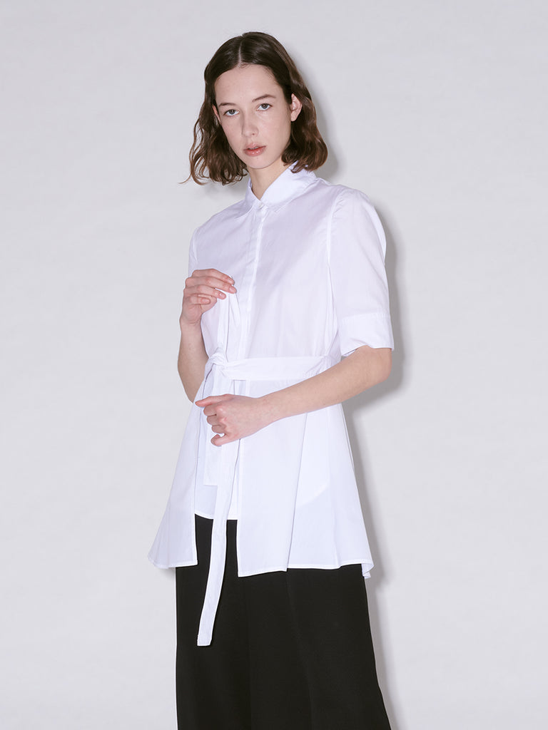 Short Sleeve Apron Wrap Shirt