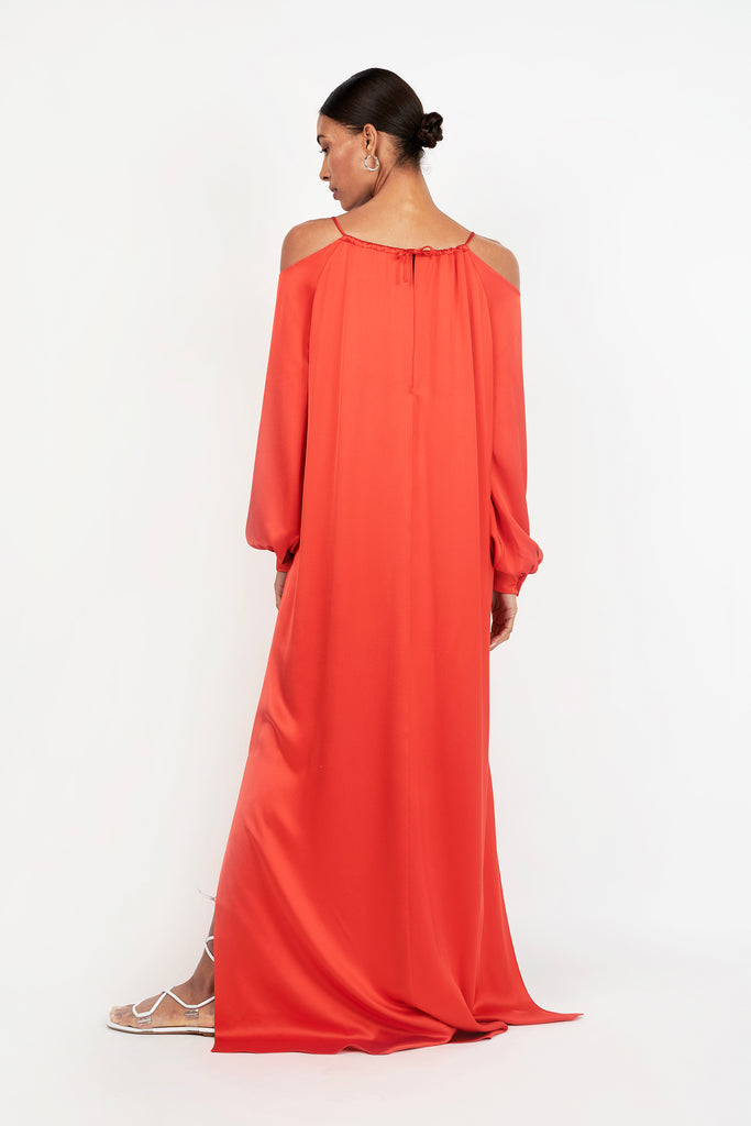CUTOUT SHOULDER GOWN