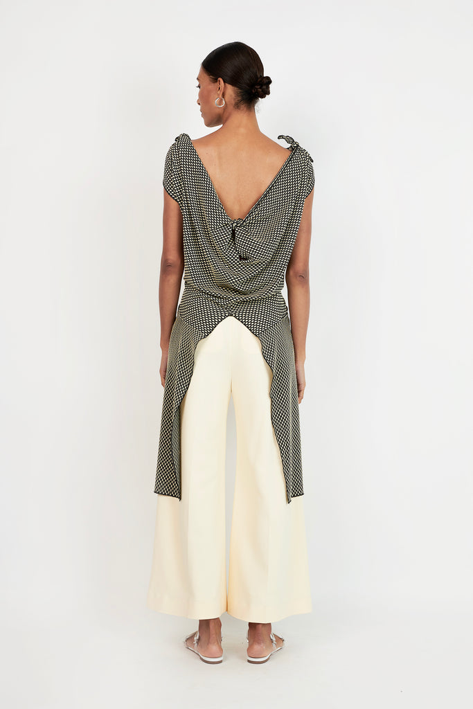 KNOTTED SPLIT TOP