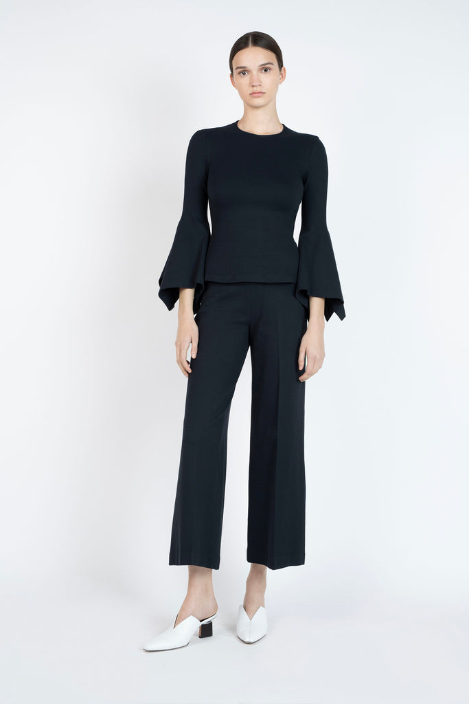 PULL-ON STRAIGHT TROUSERS