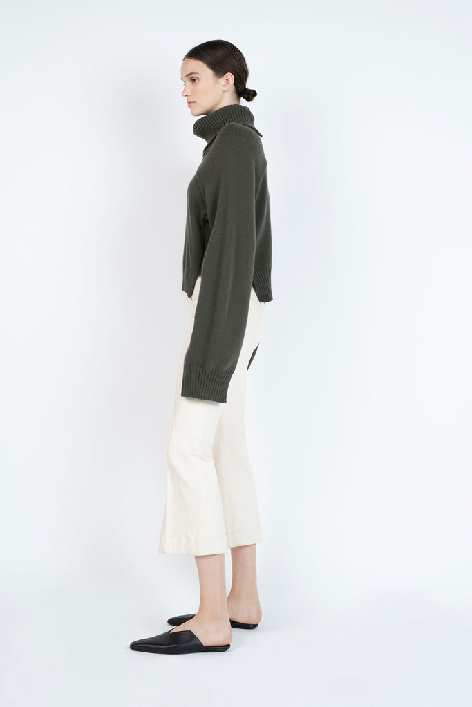 CROPPED PANELED TURTLENECK