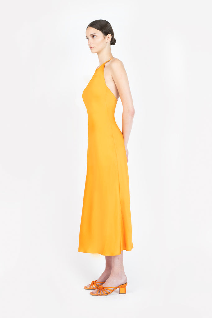CROSS BACK BIAS SLIP DRESS